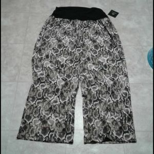 Fortune + Ivy snake print wide pants